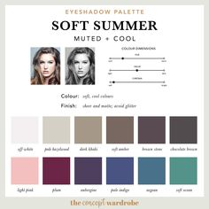 If you have just discovered that you are a Soft Summer in the seasonal colour analysis, find out what the best Soft Summer make-up colours are. Soft Summer Makeup, Summer Skin, Cool Skin Tone, Cool Tones, Cool Tone Hair Colors, Soft Summer Color Palette, Summer Colors, Zooey Deschanel, Summer Eyeshadow