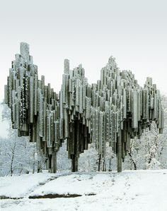 onsomething:  onsomething  Eila Hiltunen | Sibelius Monument - Detail, 1961 - 67 Helsinki. Emil Kukkonen assistant-metalworker. Material - W...