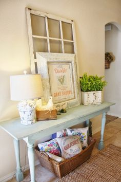 The Farmhouse Porch: Spring Entry Way