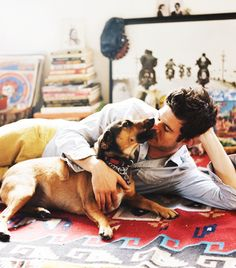 Adam Brody and puppy and books…what more could I ask for. Adam Brody, Dream Guy, Attractive Men, Perfect Man, Man Crush, Hot Boys, Bearded Men, Life Is Beautiful, Pretty People