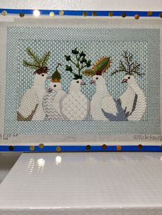 Melissa Shirley Designs designer Vicki Sawyer stitched by Teri Ambriz Needlepoint Designs, Needlepoint Stitches, Needlework, Bargello, Rug Hooking, Needle And Thread, Textile Art, Cross Stitch, Textiles