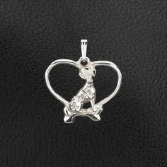 Sterling Silver Dalmatian Pendant with Chain.  25% off through May 10th.  Apply Coupon MOTHERSDAYOFF25 at register