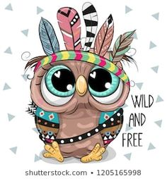 Illustration about Cute Cartoon tribal Owl with feathers on a white background. Illustration of design, hair, background - 129079172 Owl Clip Art, Owl Art, Animal Drawings, Cute Drawings, Easy Cartoon Drawings, Owl Feather, Arte Fashion, Feather Vector, Doodles