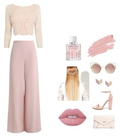 """""""pink"""" by aysudamla ❤ liked on Polyvore featuring Coast, Zimmermann, Steve Madden, GUESS, FOSSIL, Lime Crime, MANGO, John Lewis, Jane Iredale and Jimmy Choo"""
