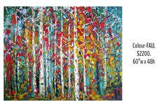 Impressionist, Original Art, Vibrant, Paris, Canvas, Floral, Painting, Color, Vintage