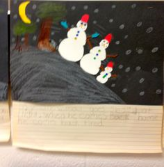 Snowmen At Night is a great book to read!  My students love it and they enjoyed making their own snowmen at night.  They even enjoyed writing about their pictures.