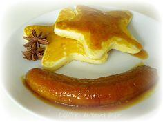 Panquecas de Maple com Bananas Carameladas    - Caldeirão da Bruxa Solar