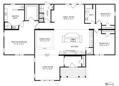 FLOOR PLAN FOR THE JOHNSON MODEL Ez Clayton Homes Home Floor - Clayton modular homes floor plans