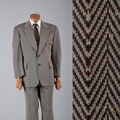 Vintage 1970s Mens Suit. Herringbone Suit. Mod Suit. Mens style, mens fashion, vintage menswear, vintage mens style, vintage fashion