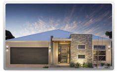 Metricon homes - Talbot facade Minimalist Architecture, Modern Architecture House, Architecture Design, Facade Design, Exterior Design, House Design, Rendered Houses, Interior Design Gallery, Exterior House Colors