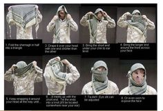 Arabic Muslim Hijab Shemagh,Desert Army tactics Scarf,Thickened ...