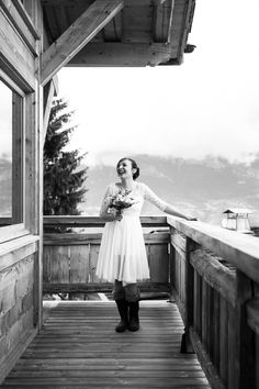 Marine & Brice, un mariage montagnard | Garance & Vanessa photographe mariage, portrait, événement #garanceetvanessa #photographedemariage #mariage  #mariagemegeve  #bride #mariée #atelieranonyme #robecourte #montagne