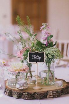 Hochzeitsdeko mit Einmachgläsern - Blumendeko Ideen