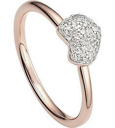 MONICA VINADER Nura 18ct rose-gold vermeil and diamond ring