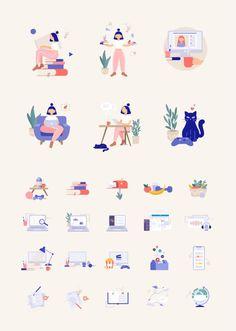 Flat Design Illustration, People Illustration, Business Illustration, Character Illustration, Web Design, Icon Design, Work Icon, Website Design Inspiration, Free Illustrations