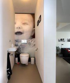 Foto op muur