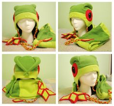 Pokemon - Flygon Hat and Scarf by ~AwesomeTikiWiki on deviantART
