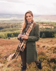On the lookout yesterday overlooking the Drummond Estate #scotland #gmgtravels #fallinscotland #fallstyle #fallcolors #tweed #plaid