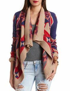 cascade aztec cardigan sweater