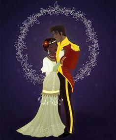 Christmas Disney Couples Tiana and Naveen Walt Disney, Disney Couples, Disney Family, Disney Magic, Disney And Dreamworks, Disney Pixar, Disney Characters, Disney And More, Disney Love