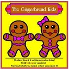 """Introducing the Gingerbread Kids: Ginger and Brett! Reproducible patterns to create boy and girl gingerbread puppets, moveable figures, stationery and more! Includes a fold-up reproducible gingerbread house!  Use this for Christmas fun, or while telling the stories of """"The Gingerbread Man"""" or """"Hansel and Gretel.""""  Each page is available as a student black and white reproducible as well as a full color teacher sample."""