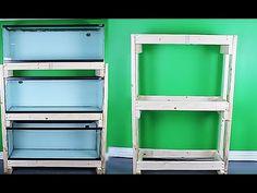 HOW TO: build an aquarium rack - cheap and easy Terrarium Stand, Reptile Terrarium, Terrarium Plants, Diy Aquarium Stand, Aquarium Design, Planted Aquarium, Aquarium Fish, Support Pour Aquarium, Pisces