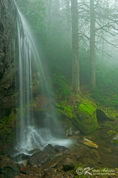 Kevin Adams Waterfalls in Nantahala National Forest-North Carolina  Loretta Falls in Nantahala National Forest, North Carolina.