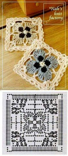 Transcendent Crochet a Solid Granny Square Ideas. Inconceivable Crochet a Solid Granny Square Ideas. Crochet Coaster Pattern, Crochet Motifs, Granny Square Crochet Pattern, Crochet Blocks, Crochet Diagram, Crochet Chart, Crochet Squares, Crochet Patterns, Granny Squares