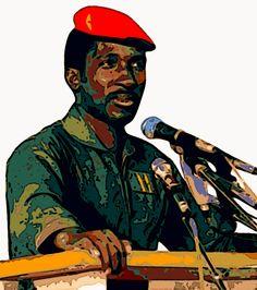 Thomas Sankara. Création originale par Taha Elhamed