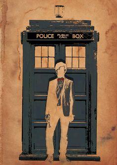 11 and the TARDIS print