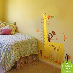 Another Giraffe Grow Up Growth Chart Wall Decal