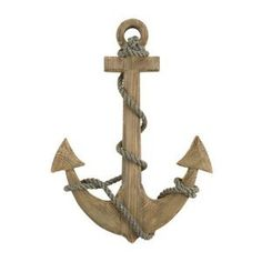 "Amazon.com: 24"" Wooden Boat Anchor with Crossbar  (spray paint turquoise)"