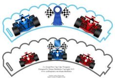 2 x Grand Prix Motor Racing Cup Cake Wrappers on Craftsuprint designed by Elaine Sheldrake - Ideal Birthday cup cake wrappers for the boys, girls, women and men in your family that love Grand Prix, Formula one motor racing. Simply print off as many as you need. Lots more of my wrappers can be found by just clicking onto my name Elaine Sheldrake below my picture to see them. Happy Cup Cake making everyone! - Now available for download!