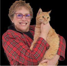 Neatees designer with her kitty, Wilson Bones Mallette