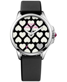Juicy Couture Women's Jetsetter Black Silicone Strap Watch