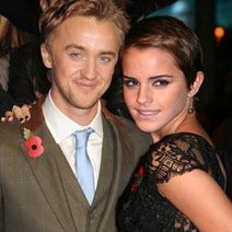 Tom Felton and Emma Watson. I think they would be the cutest couple ever!!