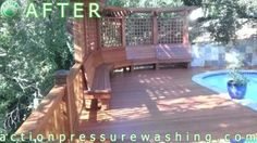 Deck Restoration Using Pressure Washing  When you told your kids that you needed to call a Lafayette pressure washing company before you let them use the pool, they probably threw a tantrum. But your instincts to get your pool's apron cleaned thoroughly (using detergent, water, and power washing) are smart.