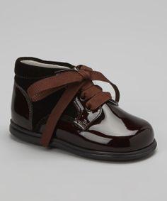 Leather & Velvet Shoe