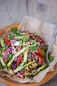 Asian asparagus slaw   Scaling Back