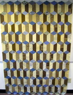 Alternate colorway of Marcia Harmening's Rectangular Prisms pattern. The pattern is in Quilters Newsletter's Best Fat Quarter Quilts 2015.