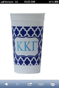 Kappa Kappa Gamma sorority stadium cup available on preppypinkies.com