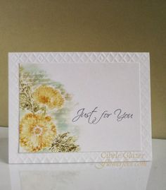 Flower Foot Designs: (Stampin' Up! Touches of Texture) March Heartfelt Creations Alumni DT Hop