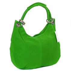 I MUST have this. Yes. I will buy this. Monkeying About Ladies Italian Suede Handbag Shoulder Bag Evening Purse - Green £29.95