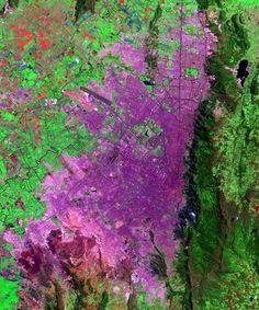Imagen satelital de Bogotá  Fuente:NASA