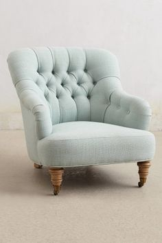 Light Blue Soft Linen Corrigan Chair #anthropologie #homedecor