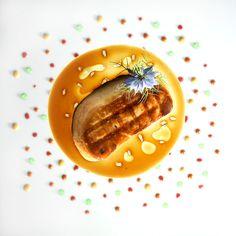 Foie gras fumé au foin
