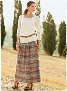 peruvian connection pima cotton huancayo skirt.