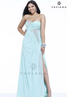 Faviana Beaded Dress 9340