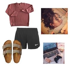"""""""#SeventyThree"""" by meganbarraza on Polyvore featuring NIKE and American Eagle Outfitters"""