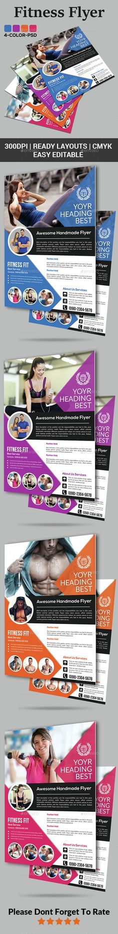 Fitness Flyer Template PSD. Download here: http://graphicriver.net/item/fitness-flyer/15111373?ref=ksioks